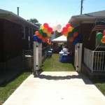 Balloon arch - front view