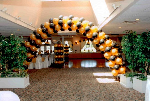 Balloon Arch over indoor pool