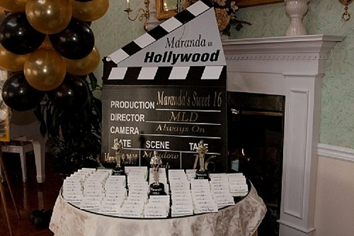 Hollywood Themed Centerpiece