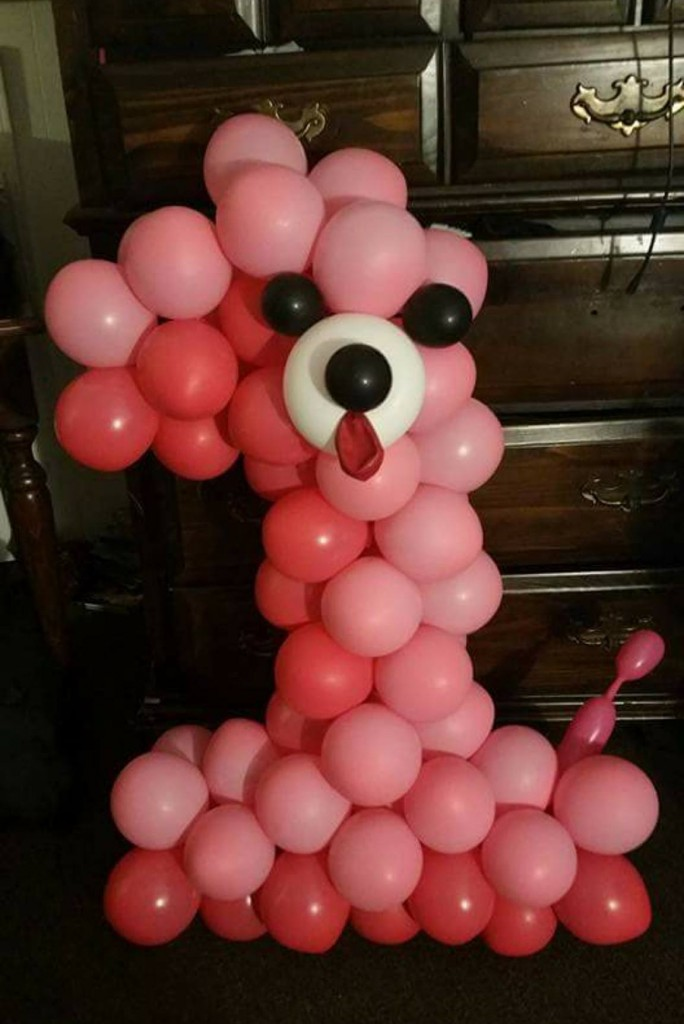 Dog Number Balloon